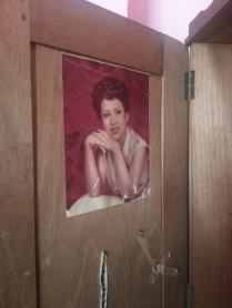 I found this picture of my mother inside of her closet!