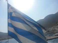 Greek flag in Sifnos
